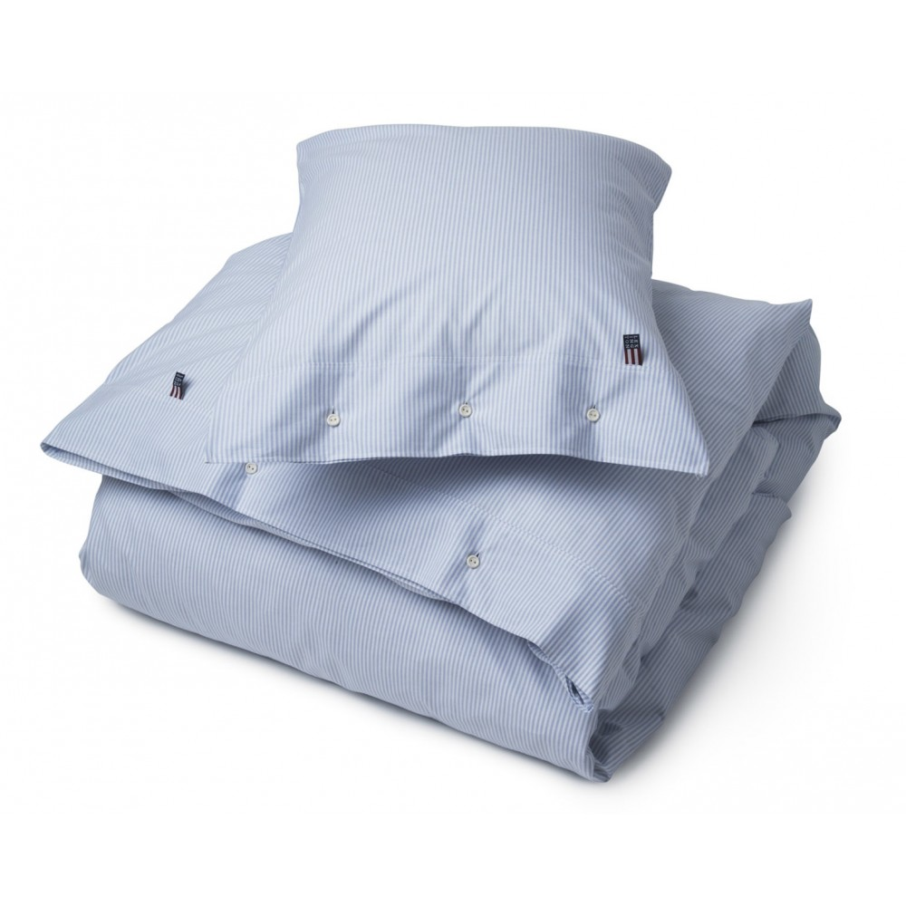 Lexington Pin Point Blue/White Duvet 140x200