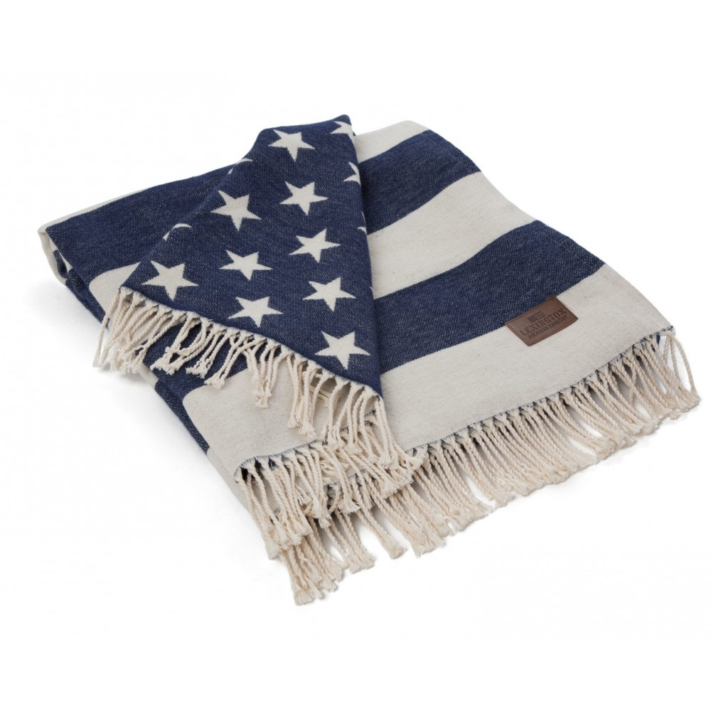 Flag Throw White/Navy