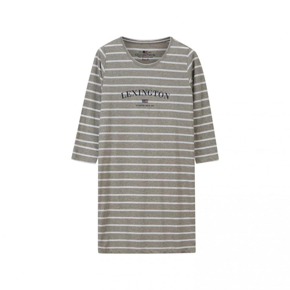 Women's Nightgown Organic White/Grey