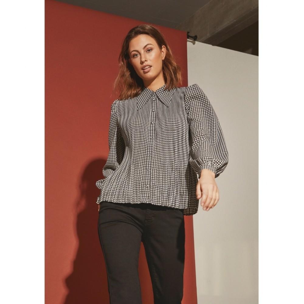 Janet Shirt, black/white