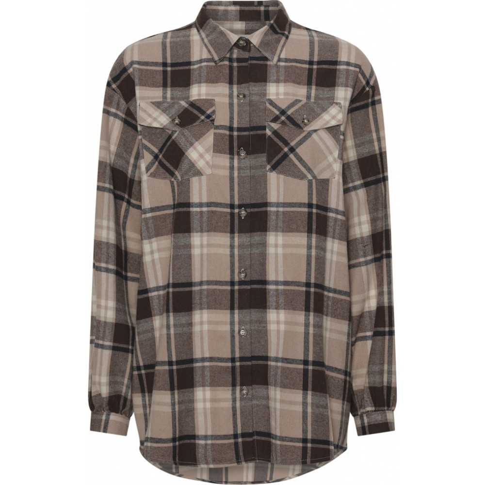 Gila Check Shirt Brown