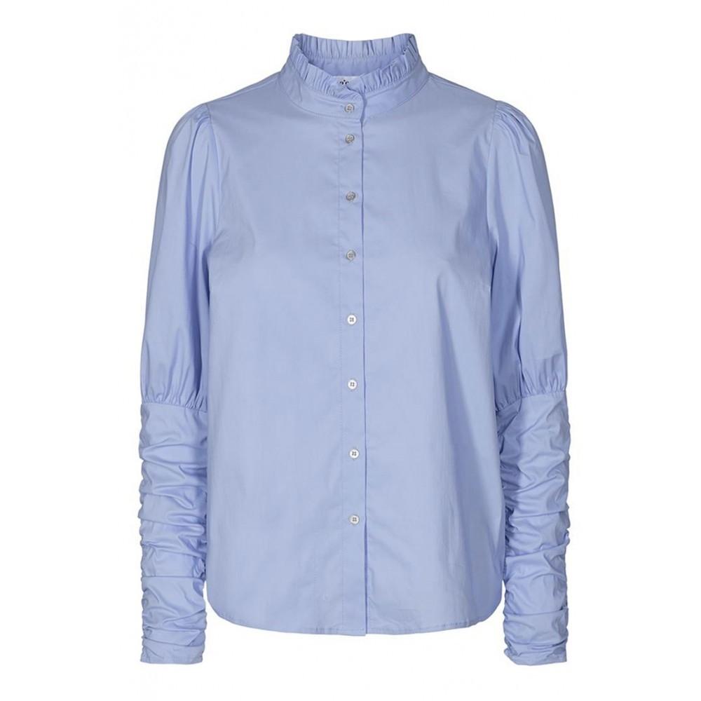 Sandy Poplin Puff Shirt - new blue