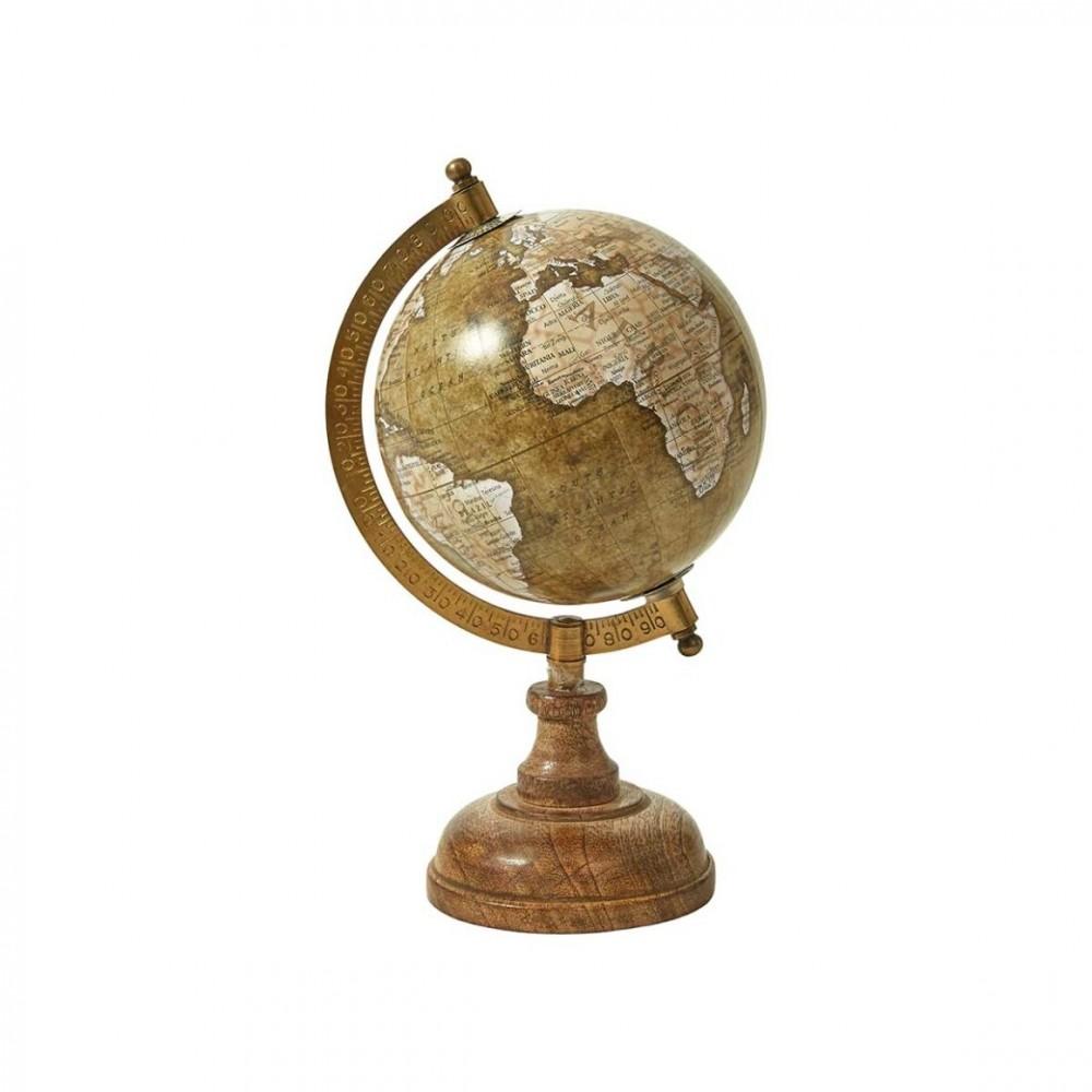 Globus m. fod 13x23cm, Matt Olive