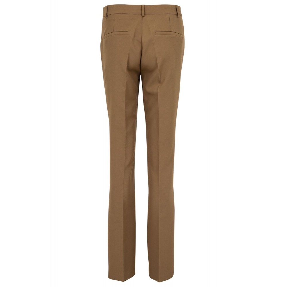Cassie F Pants Dark Taupe-01