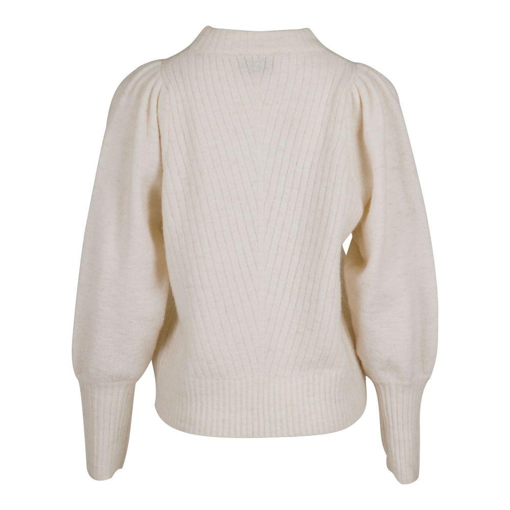 Kelsey knit blouse off white-01