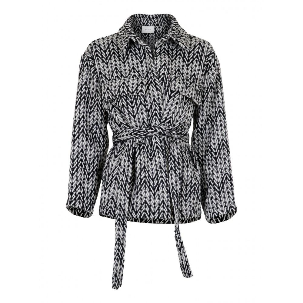Keira Glam Check Jacket, sort/hvid
