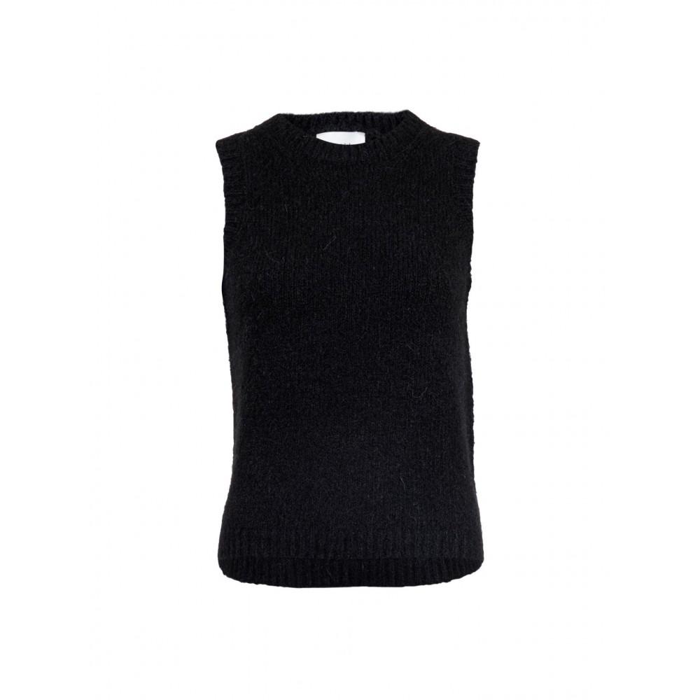 Franko Knit Waistcoat, Black