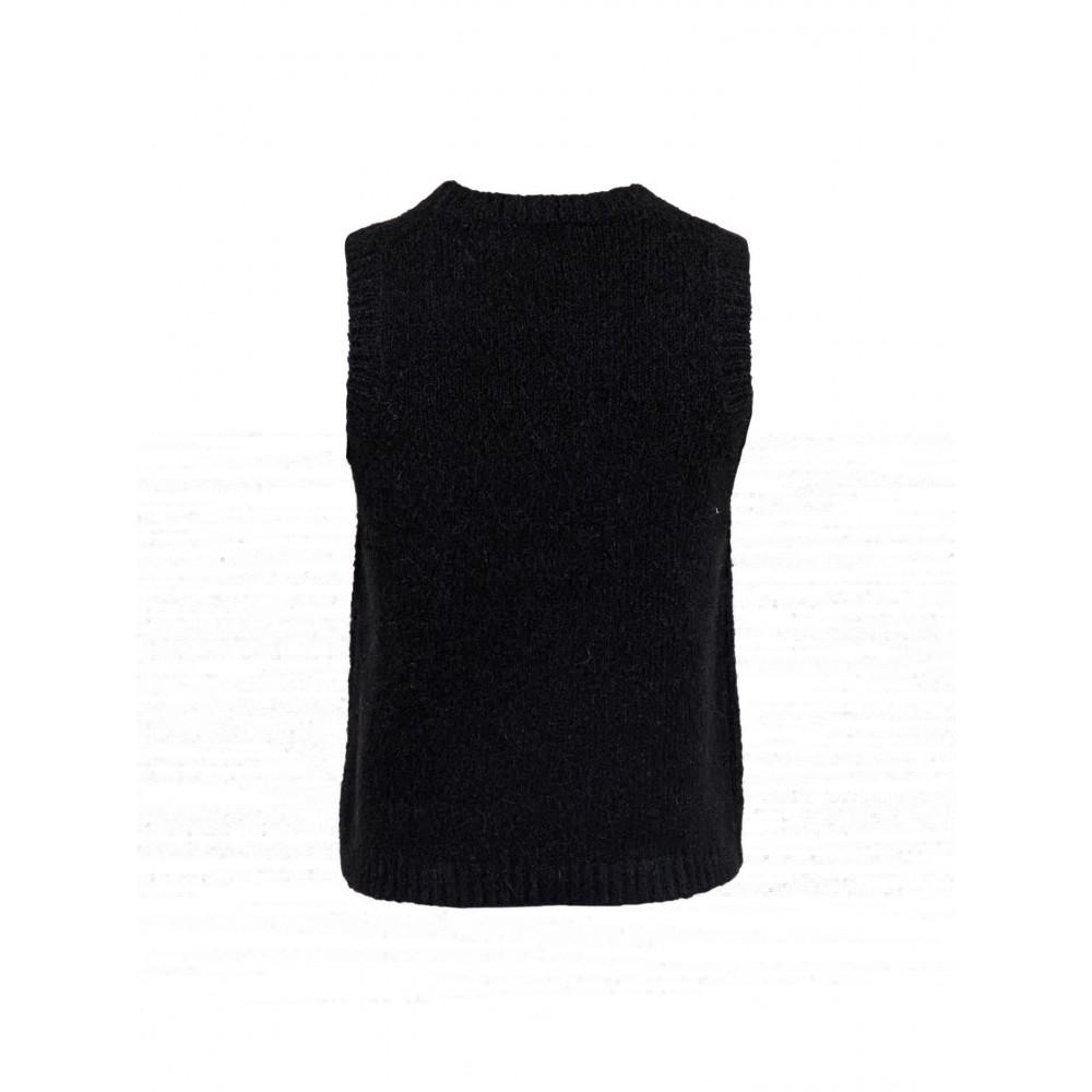 Franko Knit Waistcoat, Black-01