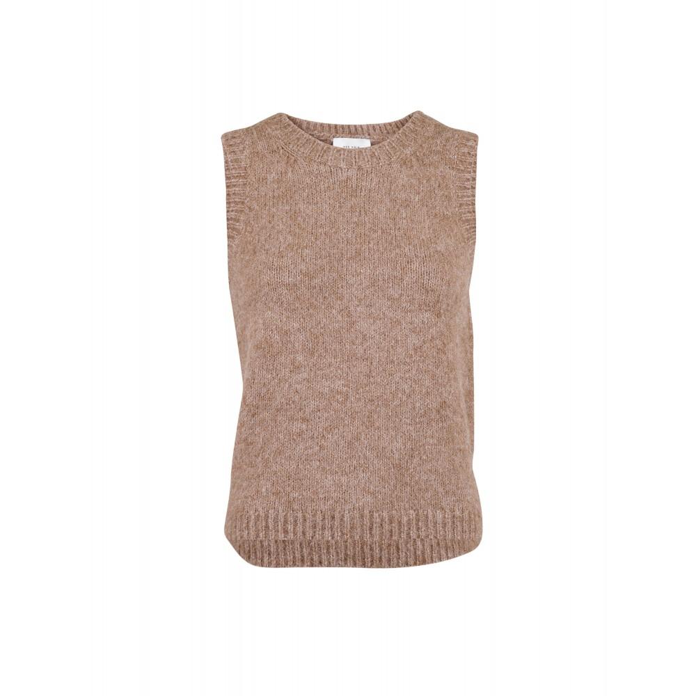 Franko Knit Waistcoat, Beige