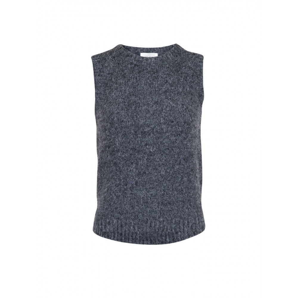 Franko Knit Waistcoat, Antracit