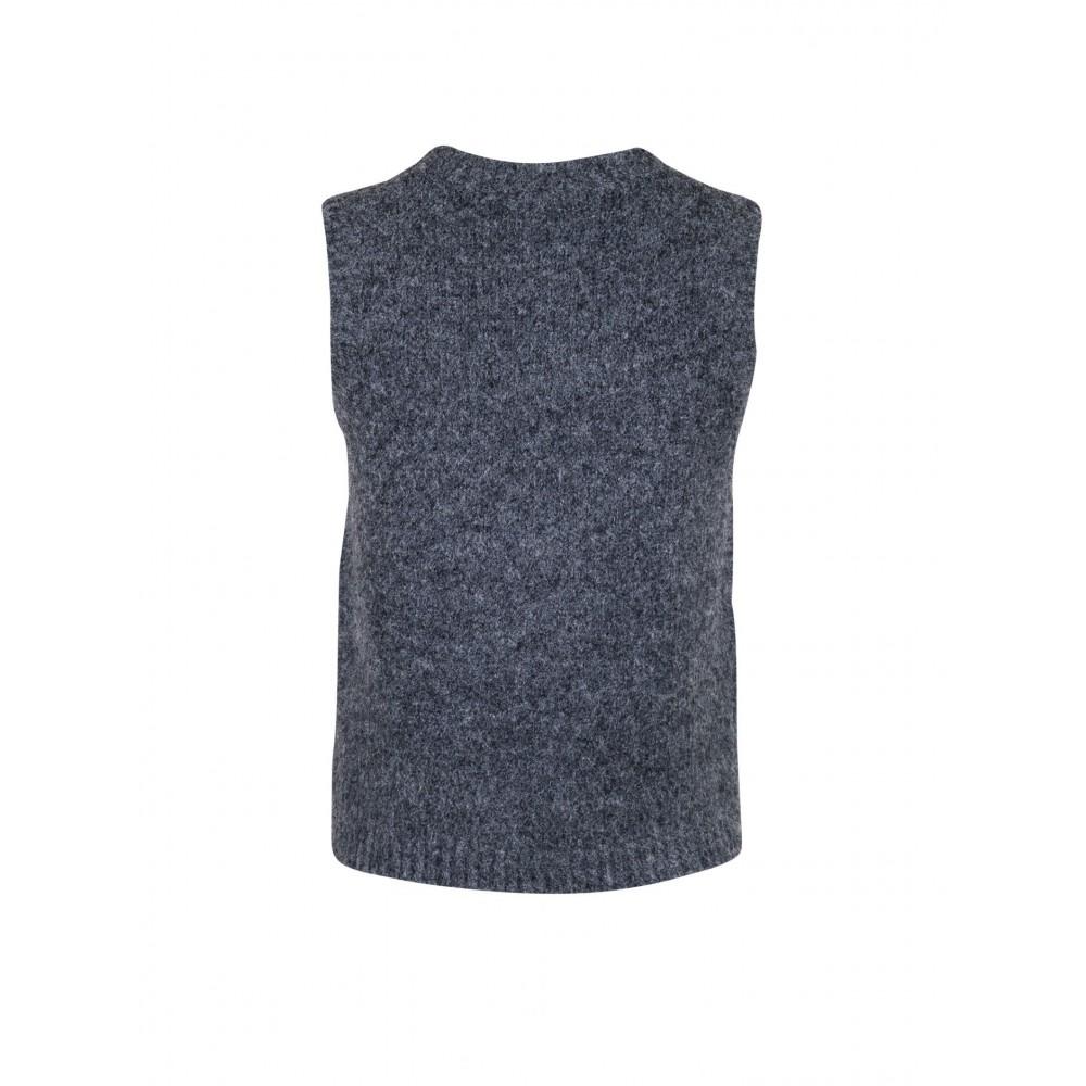 Franko Knit Waistcoat, Antracit-01