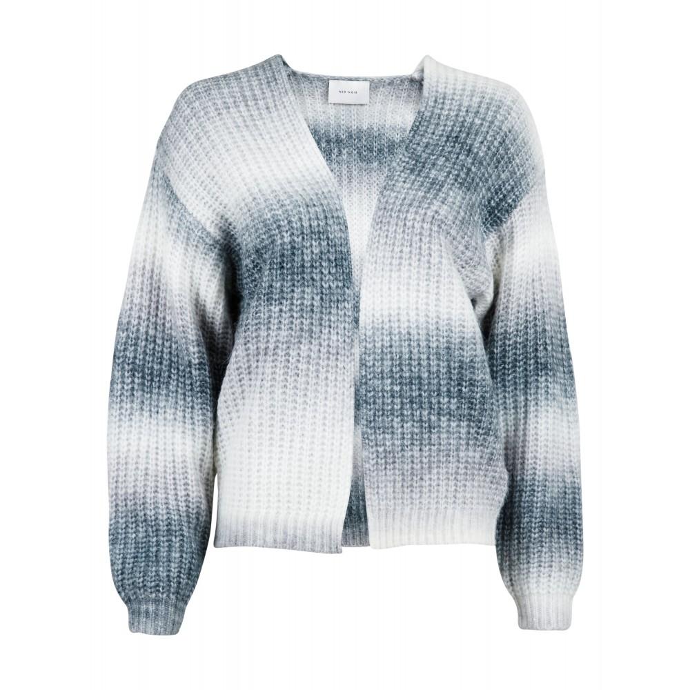 Nadia Ombre Knit Cardigan, Grey