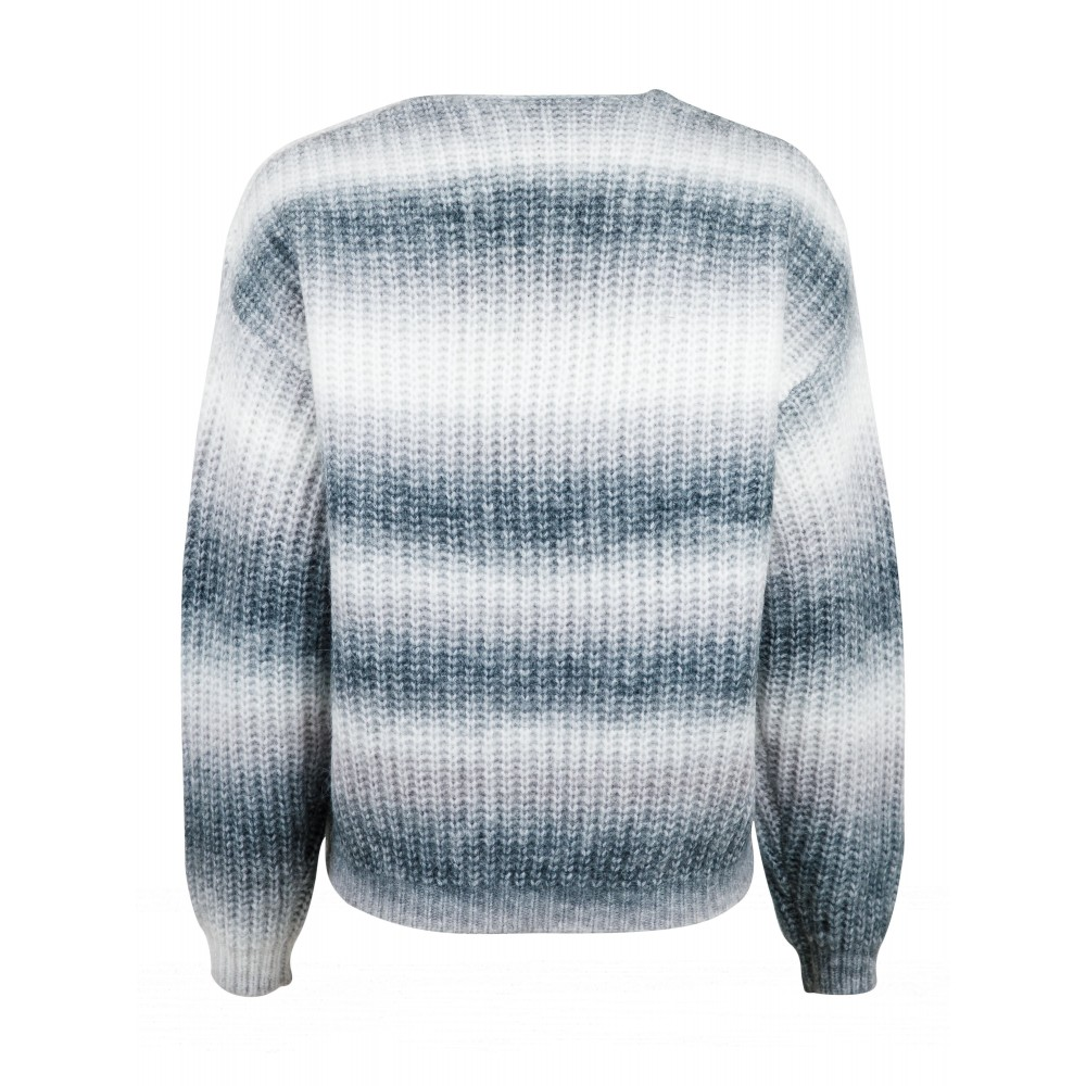 Nadia Ombre Knit Cardigan, Grey-01