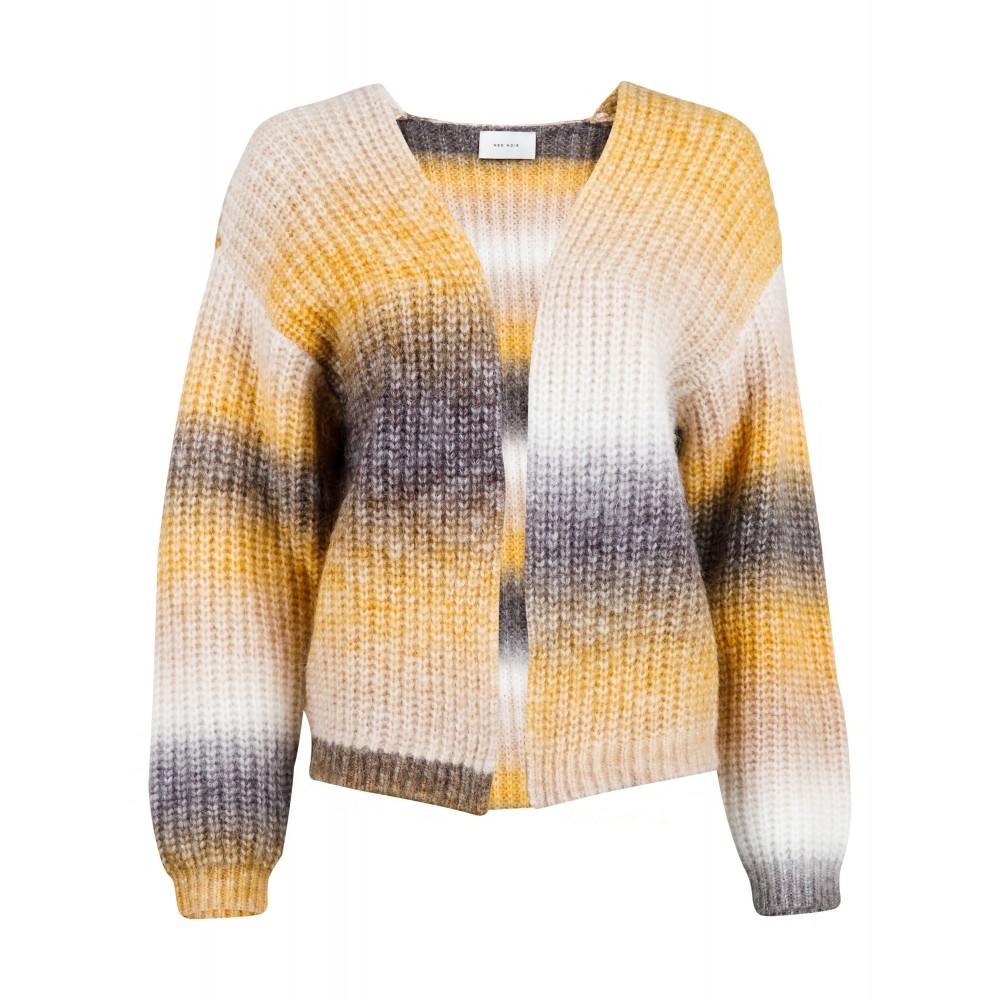 Nadia Ombre Knit Cardigan, Mustard