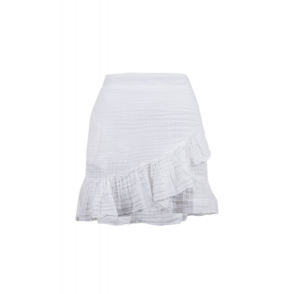 Bekka gauze skirt - white