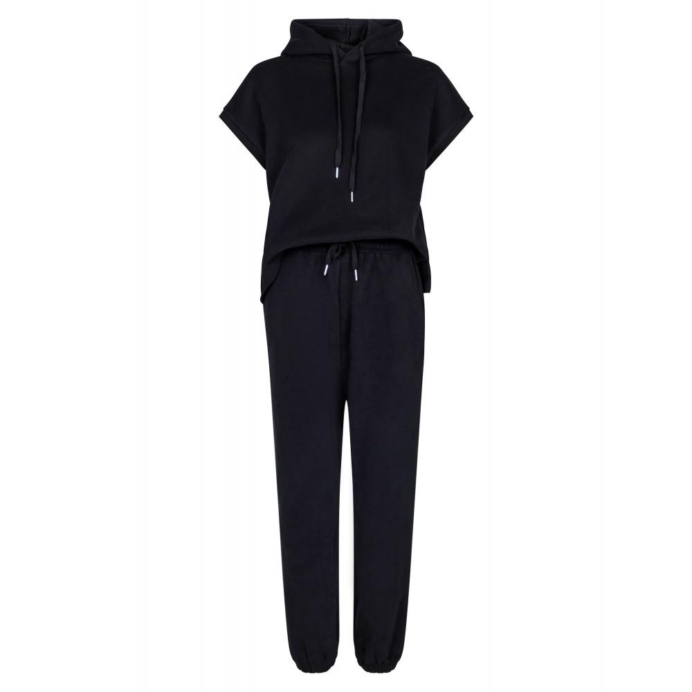 Uma light sweat jumpsuit - black