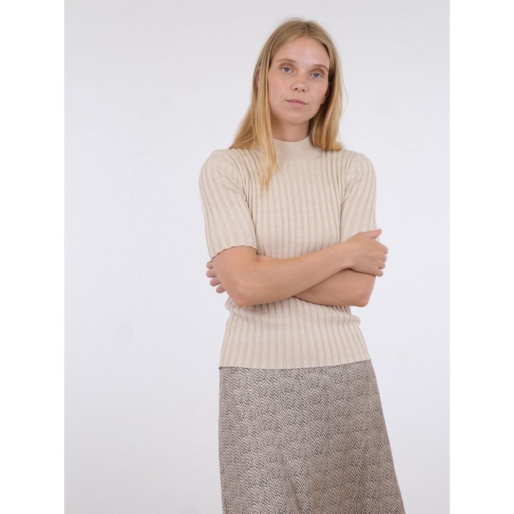 Malloy space dye blouse - sand