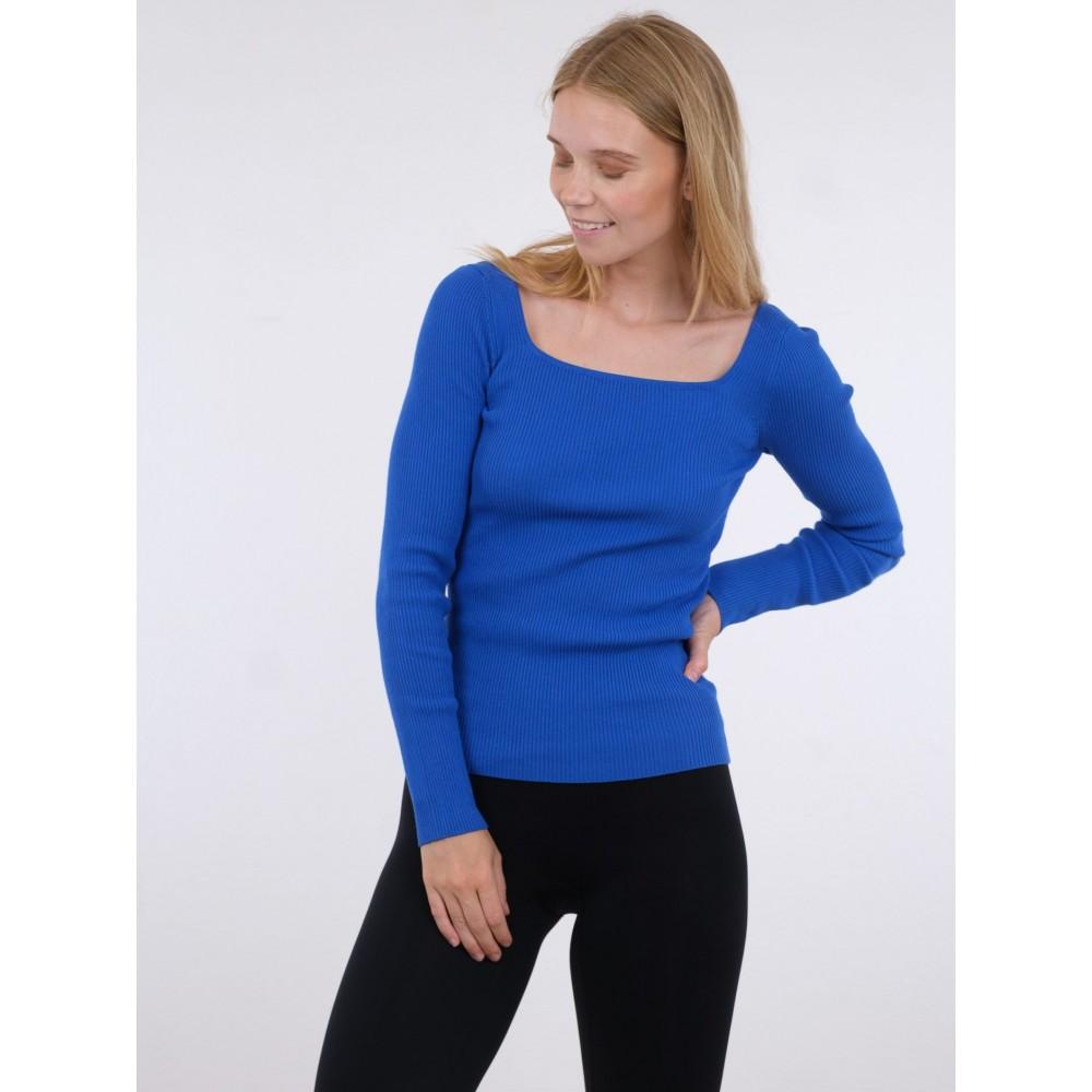 Corine knit blouse - blue