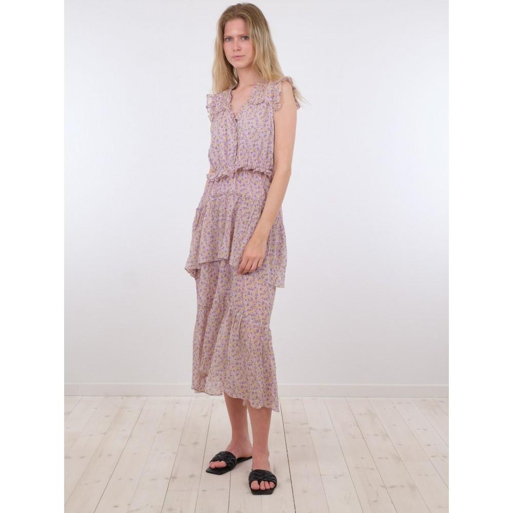 Selma morning flower dress - lavender