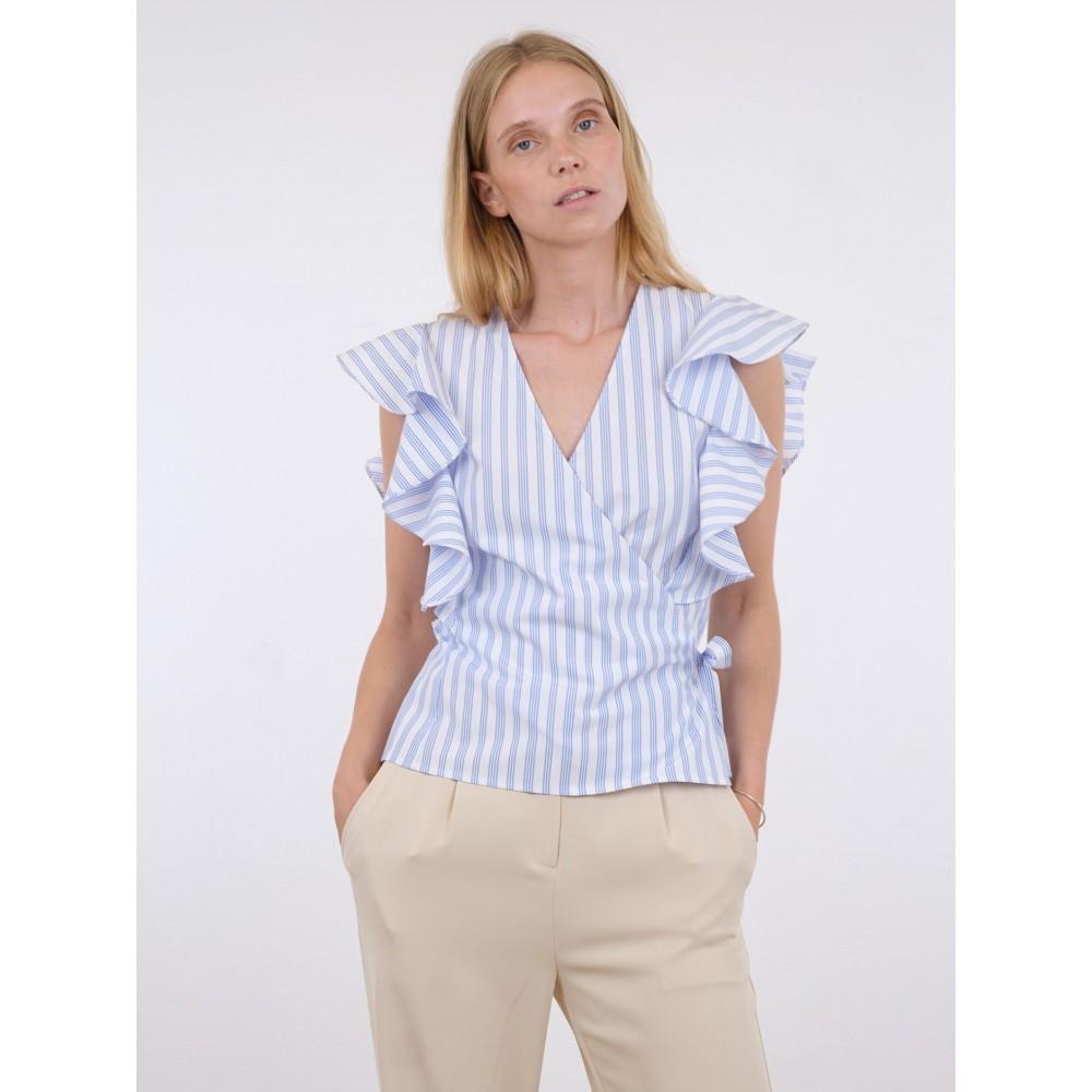 Anika stripe top - light blue