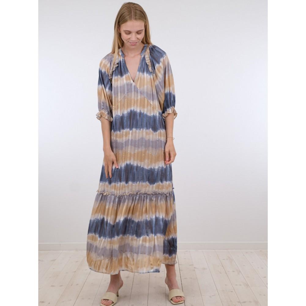 Milla simple tie dye dress - antracit