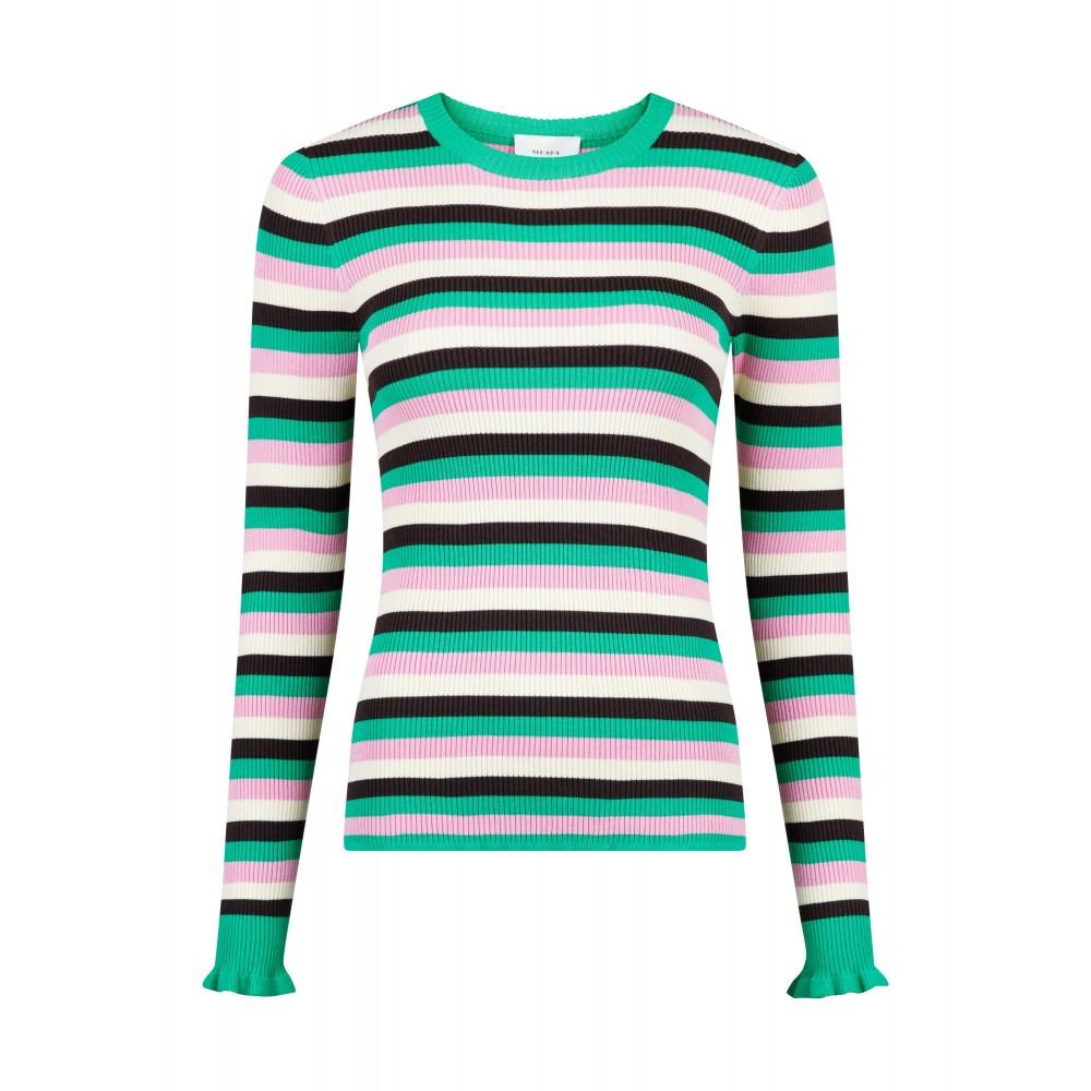 Nelle mini stripe blouse - green