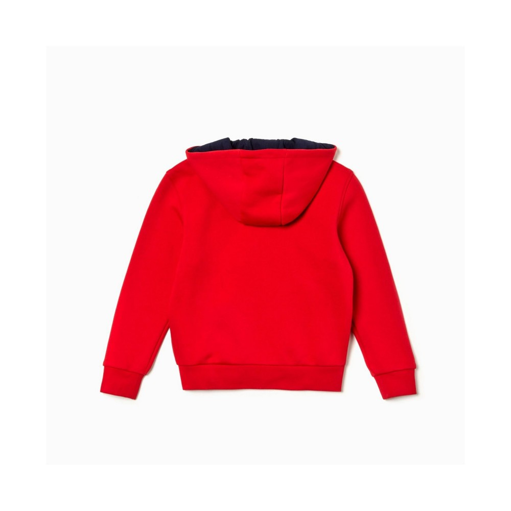 Lacoste Hoodie Red-01