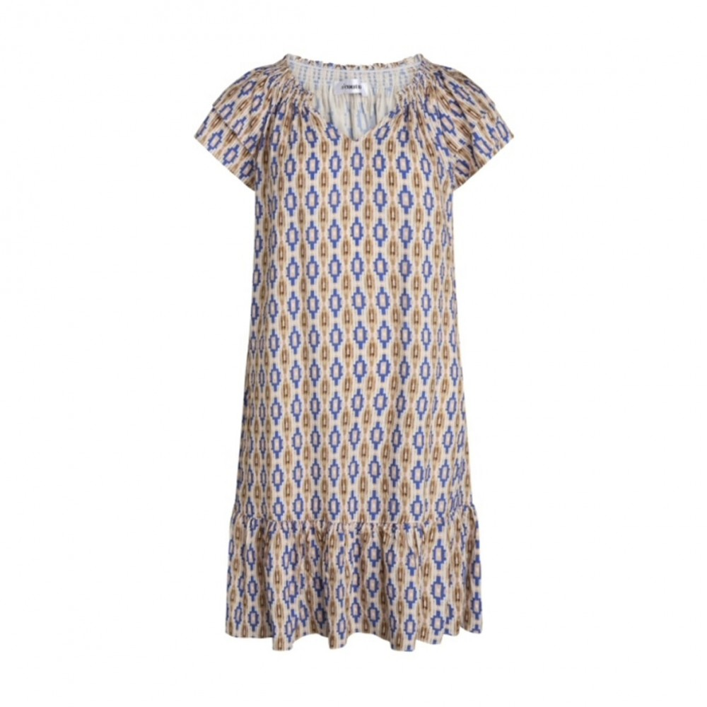 Sunrise Crop Wanda Dress - Sky Blue