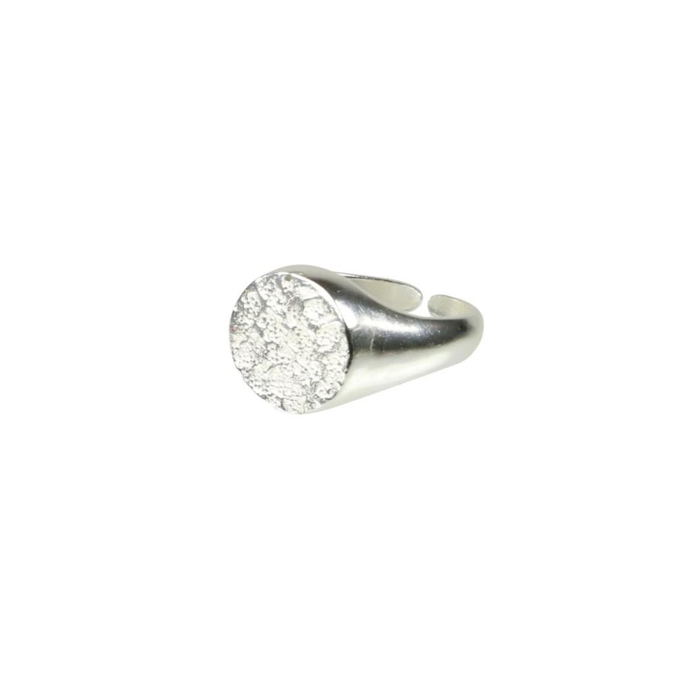 Signet ring, sølvbelagt