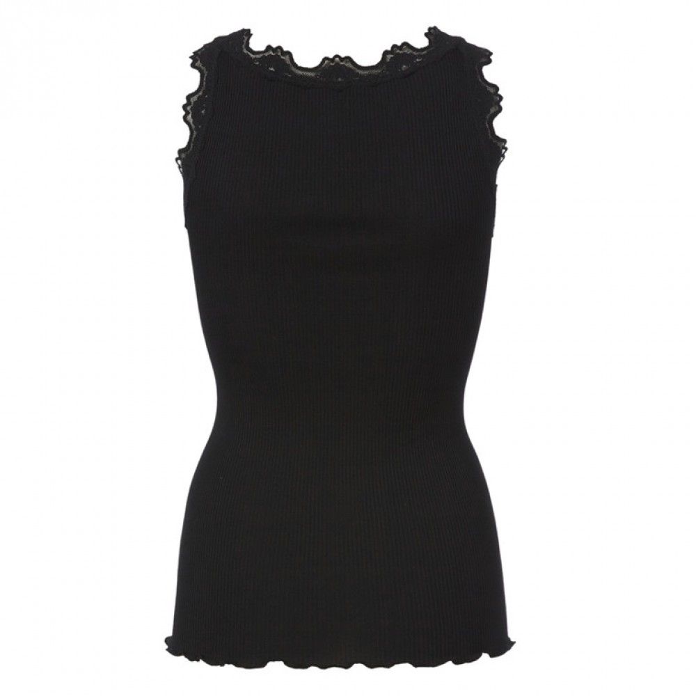 Silk top regular, black-01
