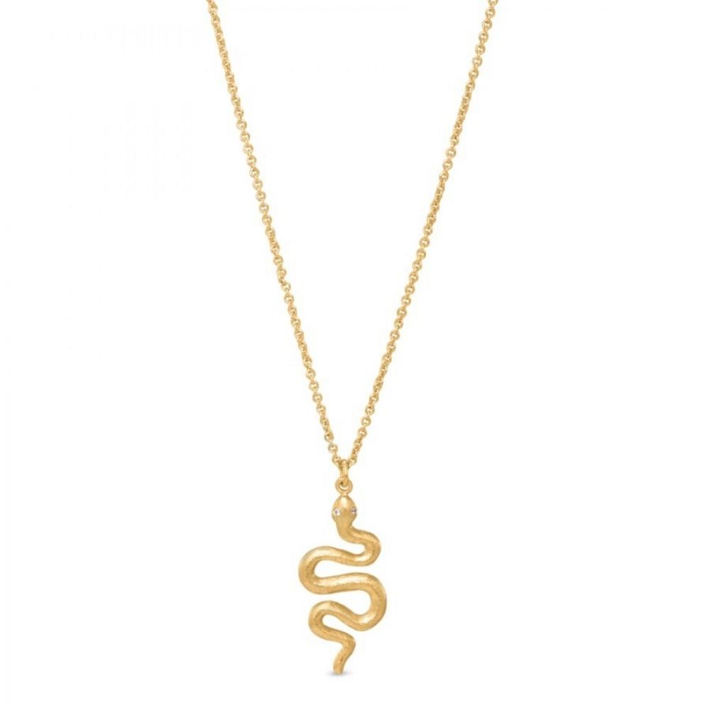 Lang kæde med slangevedhæng