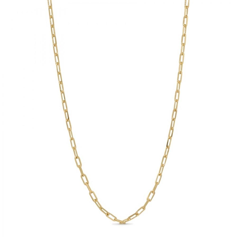 Lænkekæde 45 cm - guld