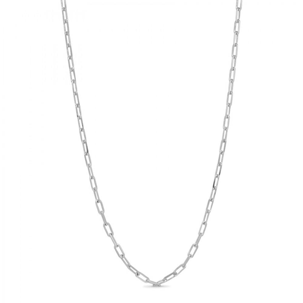 Lænkekæde 45 cm - sølv
