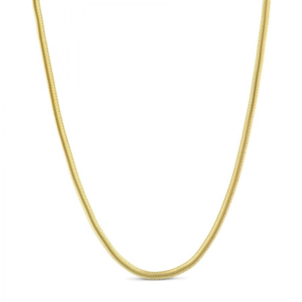 Kort snake halskæde - guld