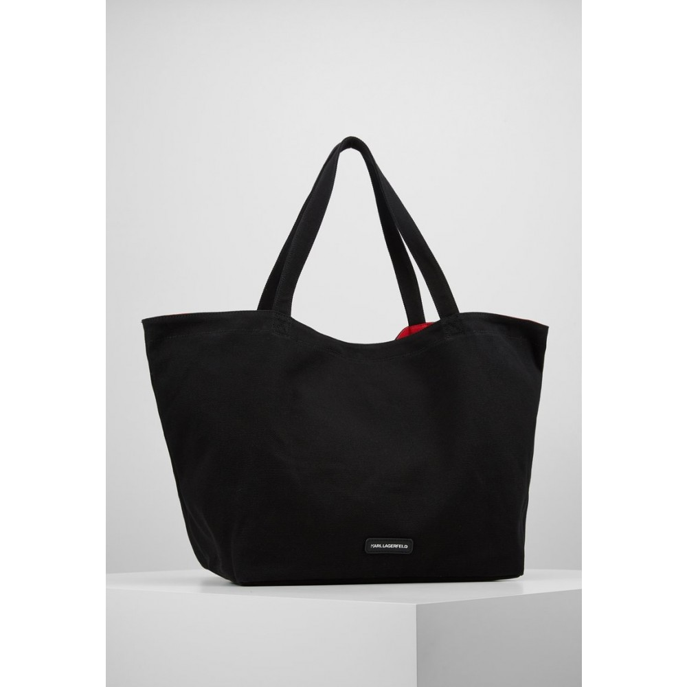 K/Rue St Guillaume Canvas Tote, Black-01