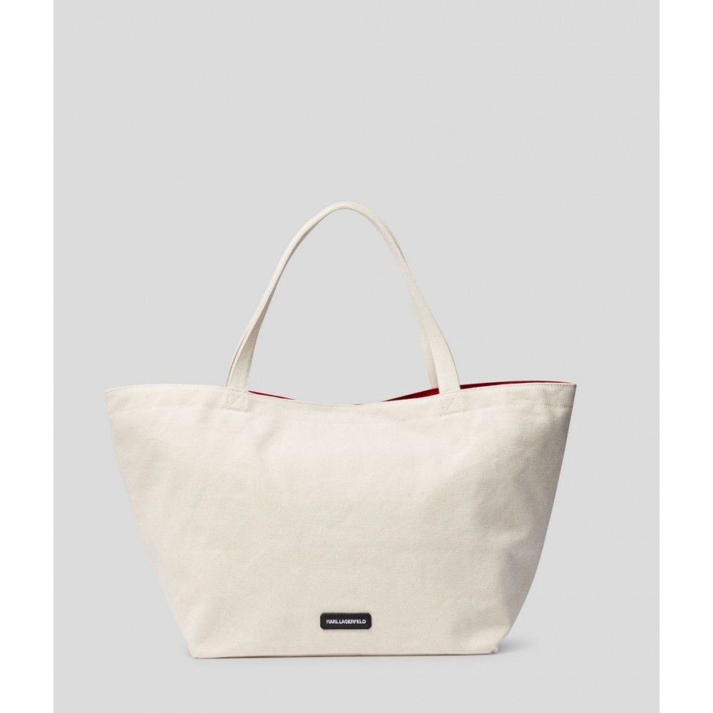 K/Rue St Guillaume Canvas Tote, Natural-01
