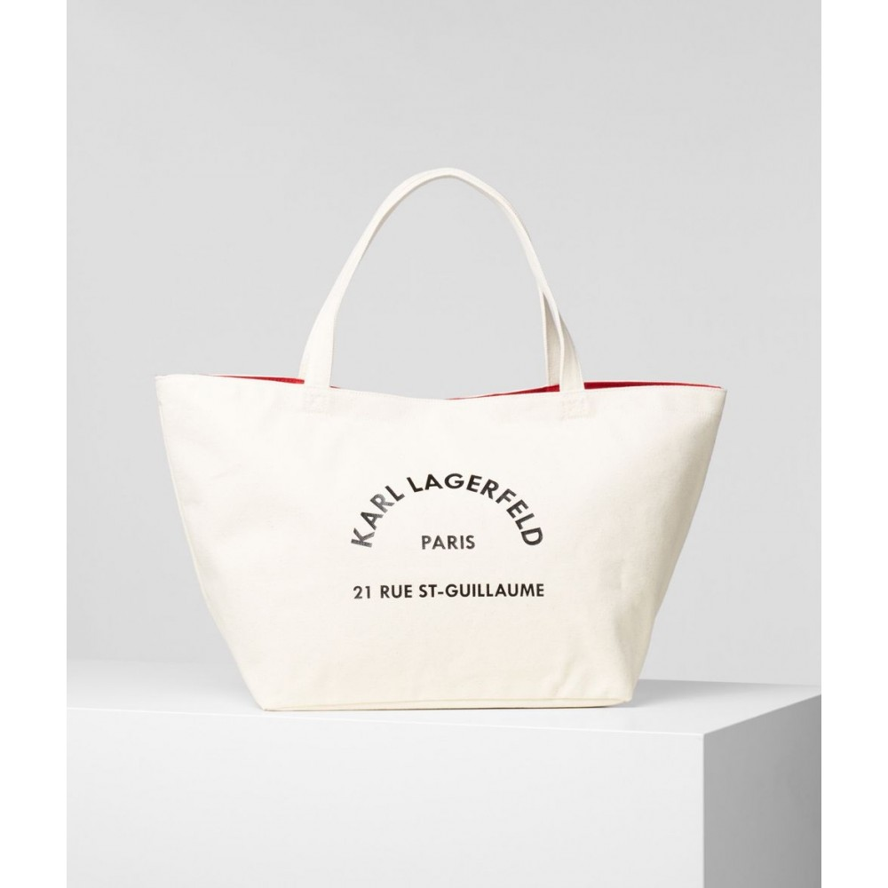 K/Rue St Guillaume Canvas Tote, Natural