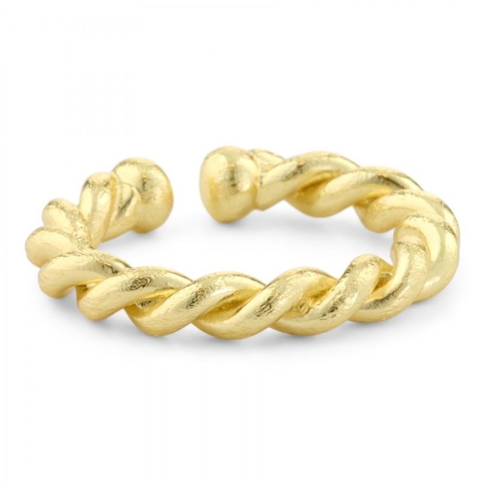 Snoet ring - guld