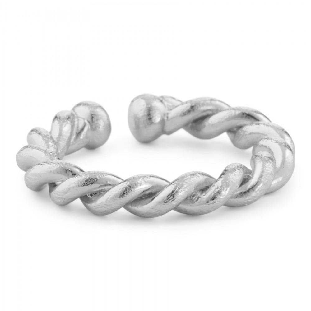 Snoet ring - sølv