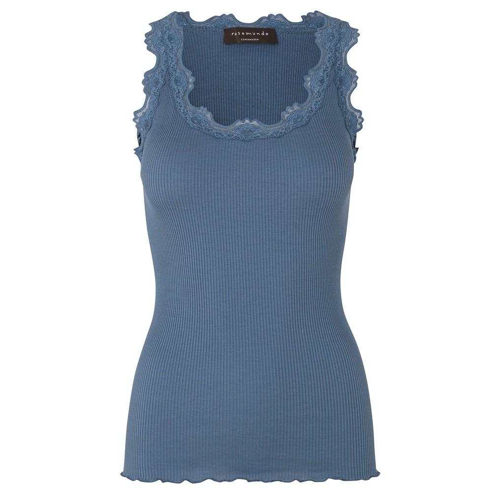 Silk top regular, dusty blue