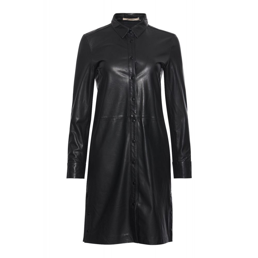 Lianne Leather Shirtdress