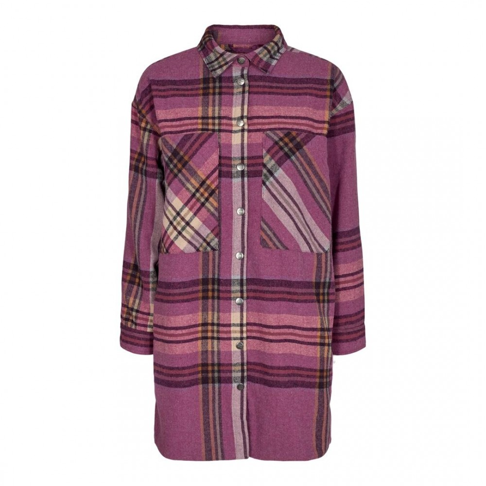 Kelsi Check Skjorte - Pink