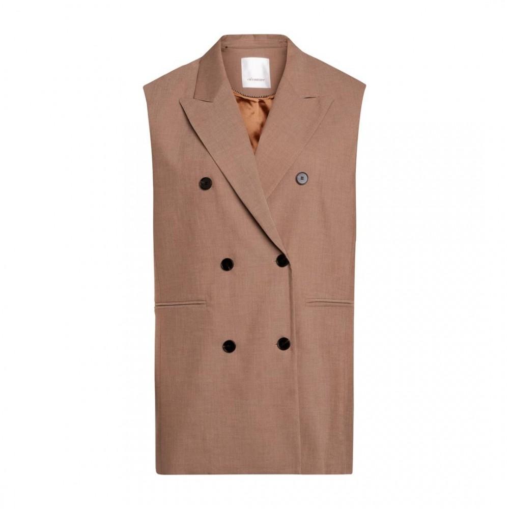 Tame Oversize Vest - Walnut
