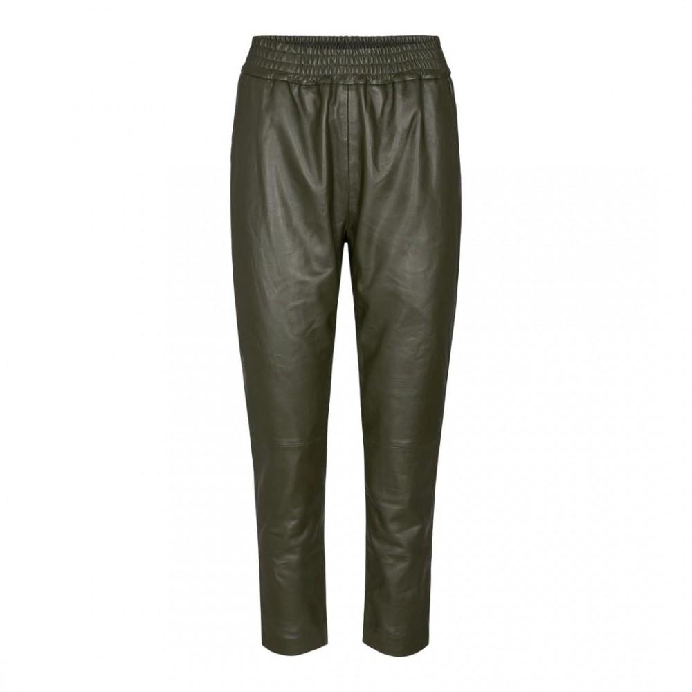 Shiloh chop leather pant - grøn