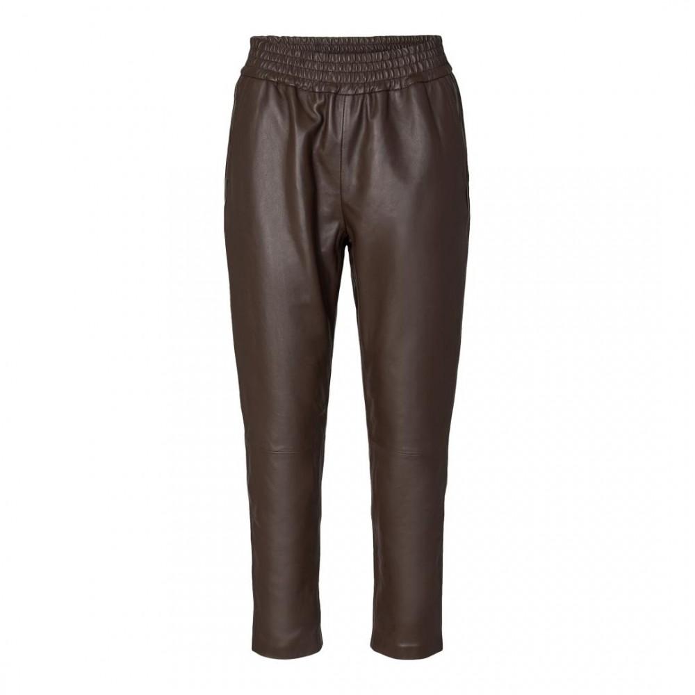 Shiloh chop leather pant - mocca