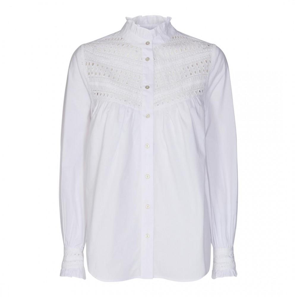 Arly lace shirt - White