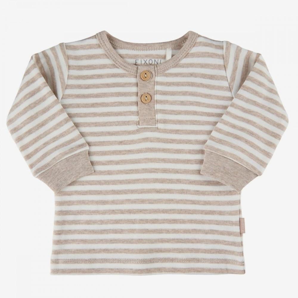 Fixoni blouse LS unisex - sand melange