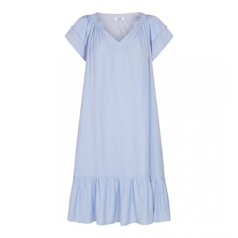 Sunrise cropped dress kort - pale blue