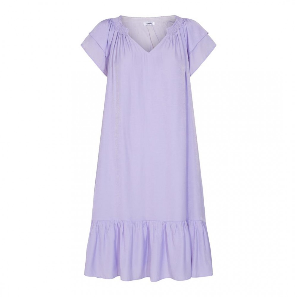Sunrise cropped dress kort - purple