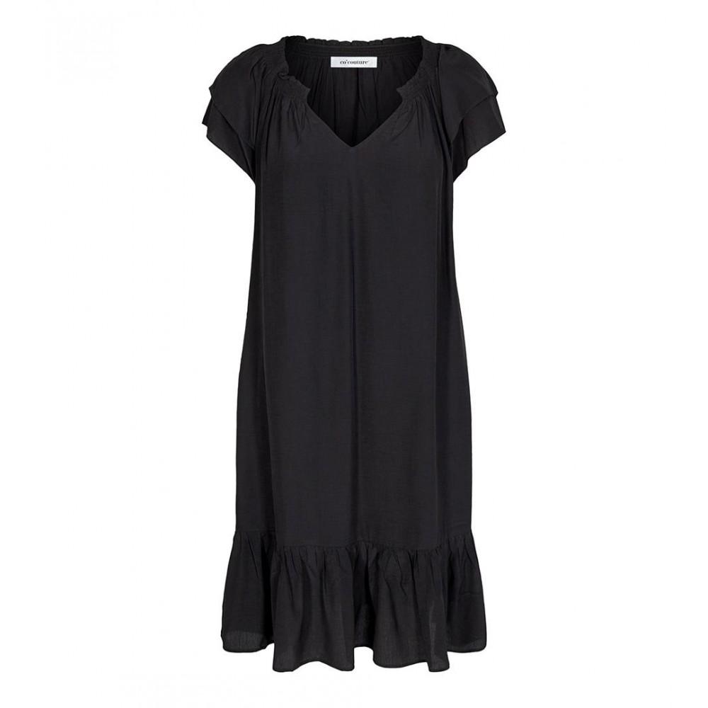 Sunrise cropped dress kort - black